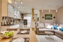 Дизайн кухни-гостиной 20 м2 в Севастополе